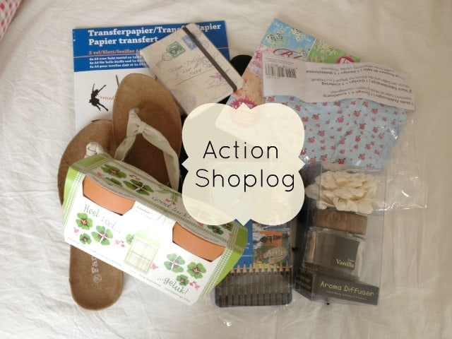Action shoplog last days of spring for Transfer papier action